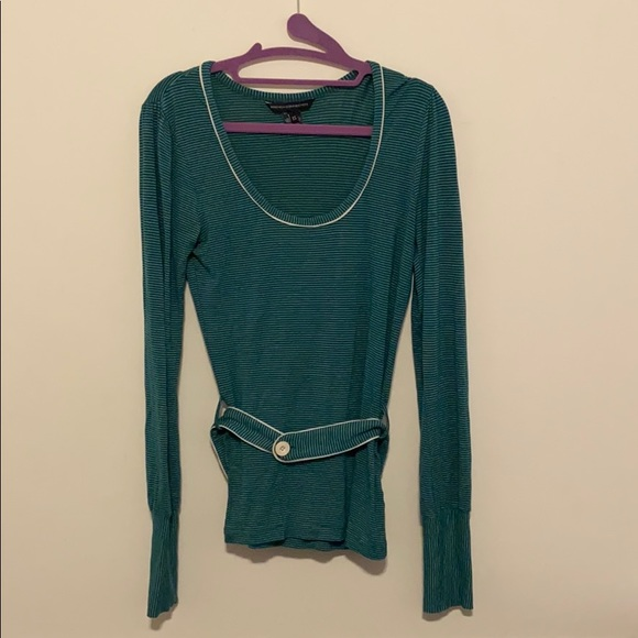 French Connection Tops - French Connection Teal Striped Blouse